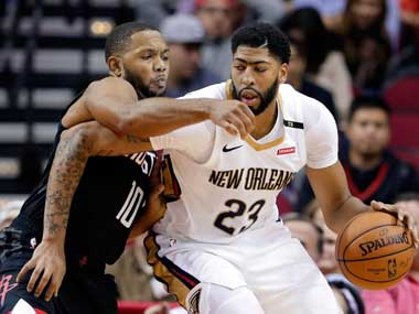 NBA Anthony Davis scores 32 points as New Orleans Pelicans get off to roaring start by beating Houston Rockets