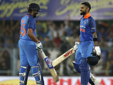 Rohit Sharma (152 not out) and Virat Kohli (140) shared a mammoth 246-run stand for the second wicket. AP