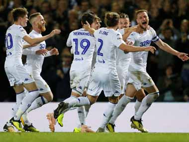 EFL Championship Leeds United beat Ipswich Town to go top Derby County thrash promotion rivals West Bromwich Albion