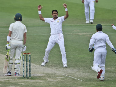 Mohammad Abbas collected 17 wickets in the two Tests to be adjudged 'Player of the Series'. AP