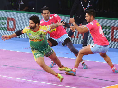 Pro Kabaddi League 2018 Defending champions Patna Pirates start home leg with victory over Jaipur Pink Panthers