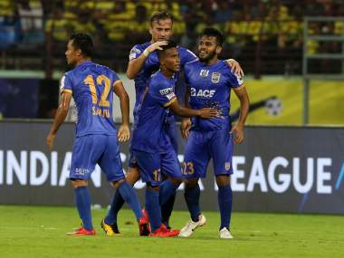 ISL 201819 Pranjal Bhumijs stoppagetime screamer helps Mumbai City FC salvage a point against Kerala Blasters