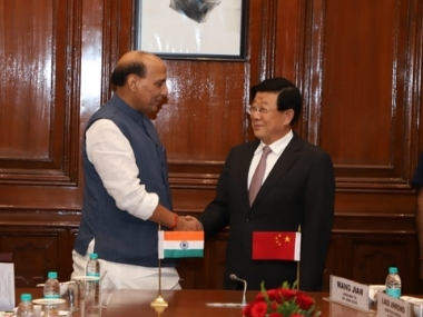 Rajnath Singh discusses security with Chinese counterpart asks Beijing to support plea in UN on Masood Azhar