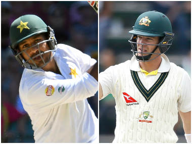 Sarfraz Ahmed and Tim Paine, captain of Pakistan and Australia respectively. AFP