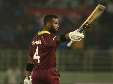 Shai Hope remained unbeaten on 123 as he helped West Indies finish on 321/7 to tie the second ODI. AP