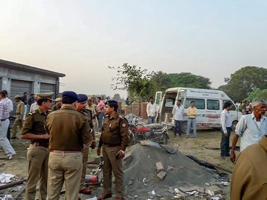 Day after blast at Badaun firecracker factory kills eight authorities seal three godowns for flouting regulations