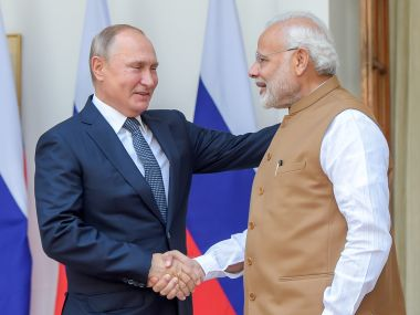 Vladimir Putin expresses hope that AK203 rifles will help Indias defence sector fulfill security agencies need for small arms