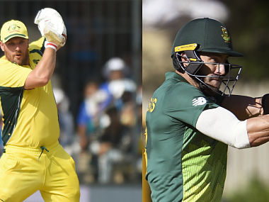 File image of Australia captain Aaron Finch and South Africa captain Faf du Plessis. AFP