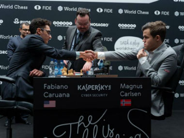 World Chess Championship Fabiano Caruanas atypical misstep helps Magnus Carlsen evade defeat in Game 8