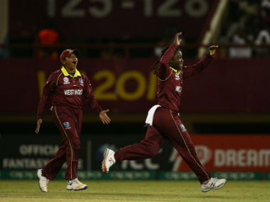 Deandra Dottin collected two wickets for 21 runs before producing a lively 46 to setup a West Indian victory. Image credit: Twitter/@WorldT20