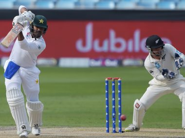Pakistan's Haris Sohail remained unbeaten on 81 off 240 deliveries at stumps on Day 1. AFP
