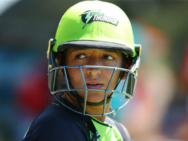 Harmanpreet Kaur had been adjudged Sydney Thunder's Player of the Tournament in WBBL 03. Image credit: Twitter/@ThunderWBBL
