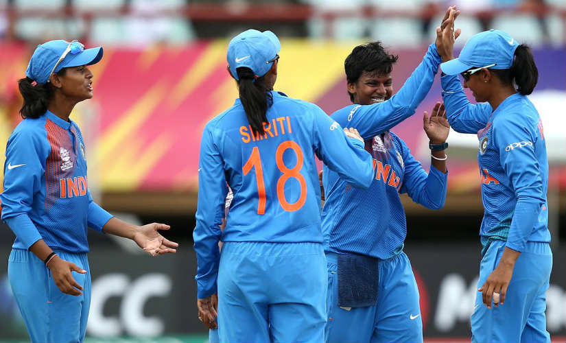 India will hope to ride on their current form to topple tournament favourites Australia in their final league fixture. Image credit: Twitter/@BCCIWomen