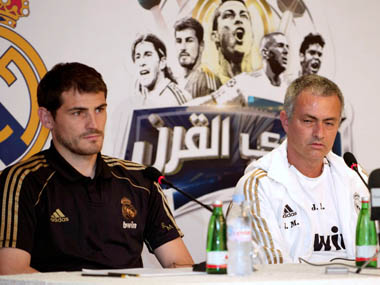 Manchester United manager Jose Mourinho reopens feud with Iker Casillas accuses him of trying to oust David De Gea from national team