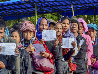Mizoram Assembly polls Congress govt faces stiff challenge as issues of prohibition refugees dominate election
