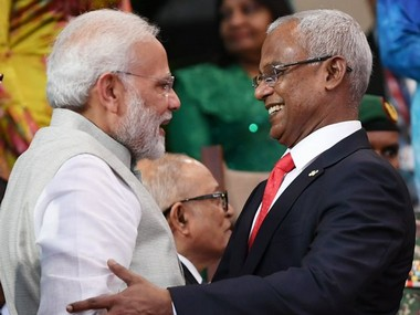 Maldivian president Ibrahim Mohamed Solih to arrive in India today for threeday visit will meet Narendra Modi on Monday