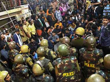 Ramesh Chennithala and other Opposition leaders heading to Sabarimala shrine to protest prohibitory orders briefly blocked by police