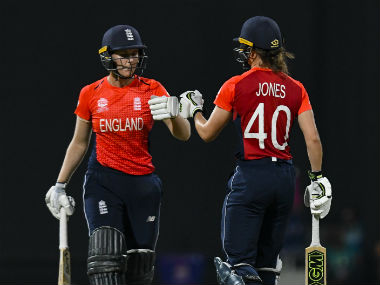 Natalie Sciver and Amy Jones forged an unbroken third-wicket stand worth 92 to guide England to a comfortable win. AFP