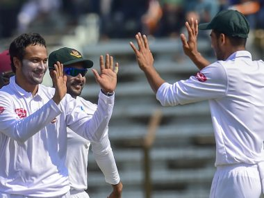 Shakib Al Hasan claimed five wickets in the match against Windies to become the first Bangladeshi to complete 200 wickets in Tests. AFP
