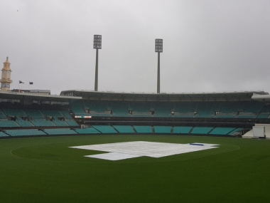 First day's play of tour game between Cricket Australia XI and India was called off due to rain. Twitter @BCCI