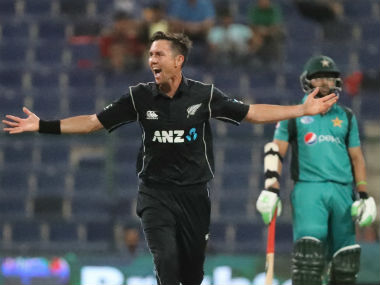 Trent Boult became only the third New Zealand bowler to claim an ODI hat-trick on Wednesday. AFP