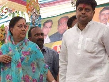 Rajasthan polls Vasundhara Raje clings to Jhalrapatan seat to hold onto Jhalawar improve son Dushyants chances in 2019