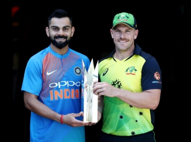 Virat Kohli and Aaron Finch, captain of India and Australia respectively. Twitter @ICC