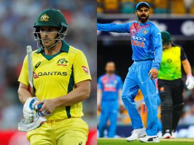 Virat Kohli and Aaron Finch, captain of India and Australia respectively. Reuters/AFP