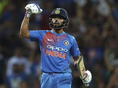 Virat Kohli remained unbeaten on 61 to guide India to a series-levelling victory. AP