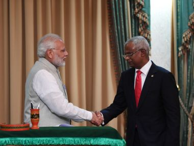 Narendra ModiIbrahim Solih meeting India needs to decide if it can go it alone but remain aware of Maldives debt to China