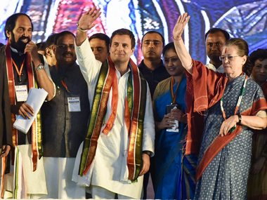 Sonia Gandhi seeks to reclaim Congress lost ground in Telangana with rally Chandrababu Naidu conspicuous by his absence