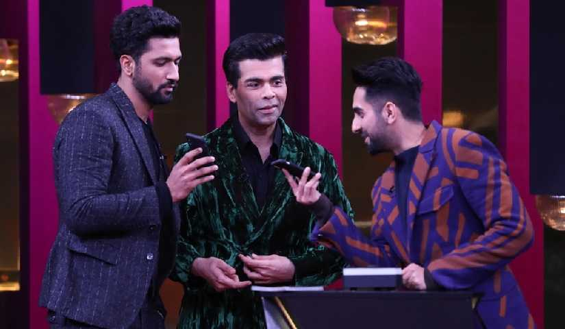 Koffee with Karan season 6 Vicky Kaushal reveals hes in a relationship Ayushmann discloses real name