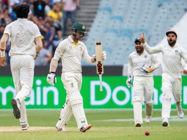 Australia were dismissed for a paltry 151 in the first innings of the third Test at Melbourne. AP