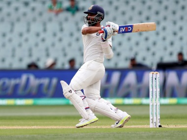 Ajinkya Rahane scored 70 in the second innings to put Indian on verge of a historic win at Adelaide. AP