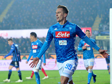 Serie A Napoli ride on super sub Arkadiusz Miliks late winner to beat Atalanta close gap on leaders Juventus to eight points