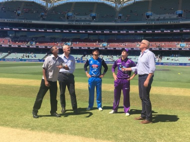Bat flip will replace coin toss in BBL's new season which starts later this month. Twitter @BBL