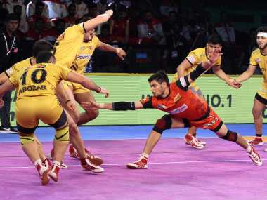 Pro Kabaddi League 2018 Bengaluru Bulls inch closer to playoffs with easy win Gujarat Fortunegiants thrash Haryana Steelers