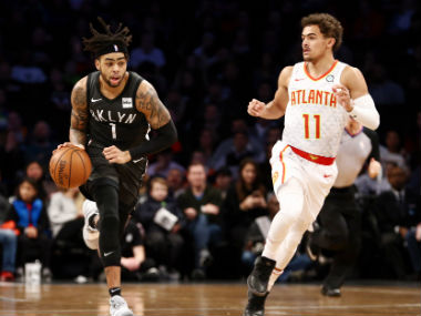 NBA DAngelo Russells doubledouble propels Nets to win over Lakers Cleveland jolt Pacers