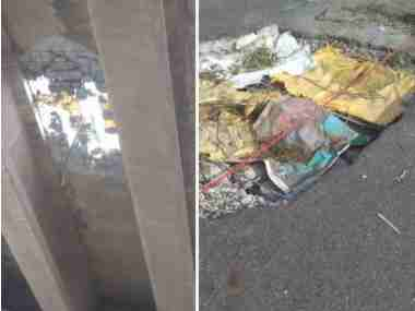 Sixfootwide hole on Gurugram flyover puts lives in jeopardy leads to traffic disruptions on DelhiJaipur route
