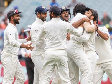 India registered their 150th Test victory at Melbourne. AP