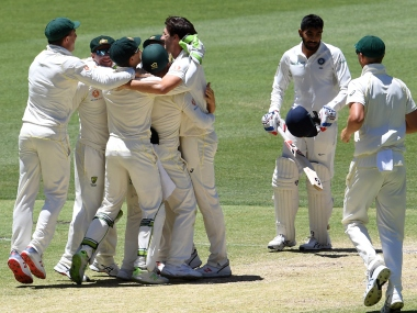 India's Jasprit Bumrah was the last wicket to fall as Australia squared the Test series 1-1 at Perth. AFP