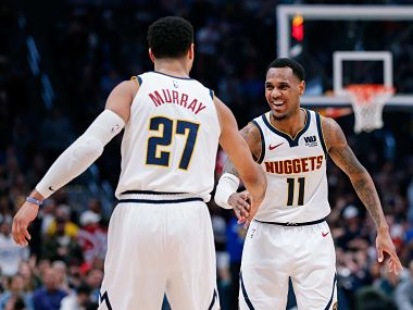 NBA Nuggets egde past Raptors in battle of conference leaders Ben Simmons tripledouble helps 76ers beat Cavaliers