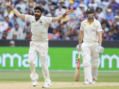 Jasprit Bumrah became the first Indian bowler to collect nine wickets in a Test in Australia. AP