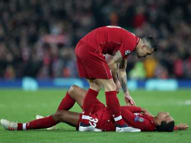 Premier League Liverpool defender Joel Matip ruled out for up to six weeks after suffering a fractured collarbone