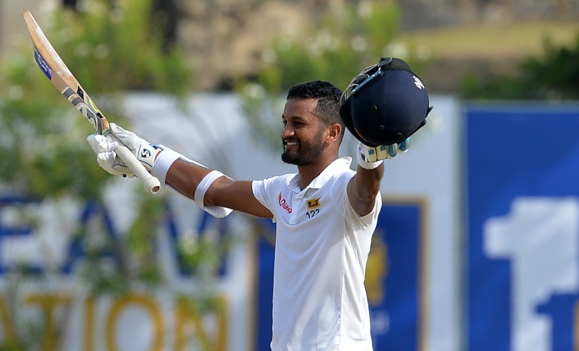 Dimuth Karunaratne smashed a match-winning 158 against South Africa in Galle. AFP