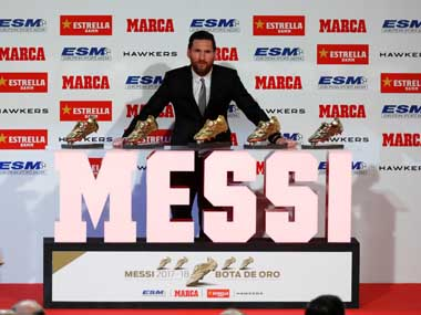LaLiga I didnt expect all this says Barcelona forward Lionel Messi after claiming fifth Golden Shoe