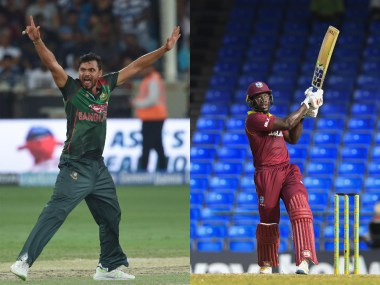 Mashrafe Mortaza and Rovman Powell, captain of Bangladesh and West Indies respectively. AFP