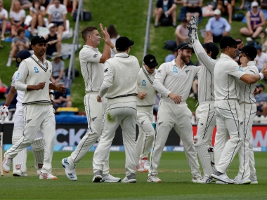 New Zealand's Tim Southee ran through Sri Lanka's top order in his opening spell. AP