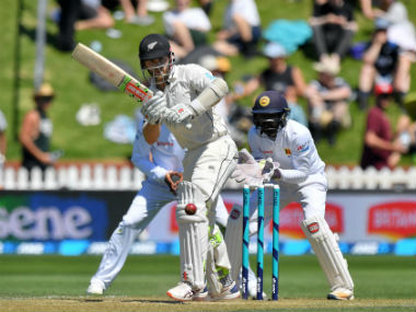 Kiwi captain Kane Williamson in action during the first Test against Sri Lanka. AFP