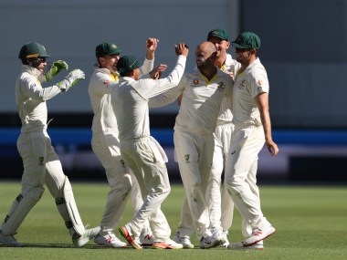 Nathan Lyon took eight wickets in the match including a five-wicket haul in the first innings. AP